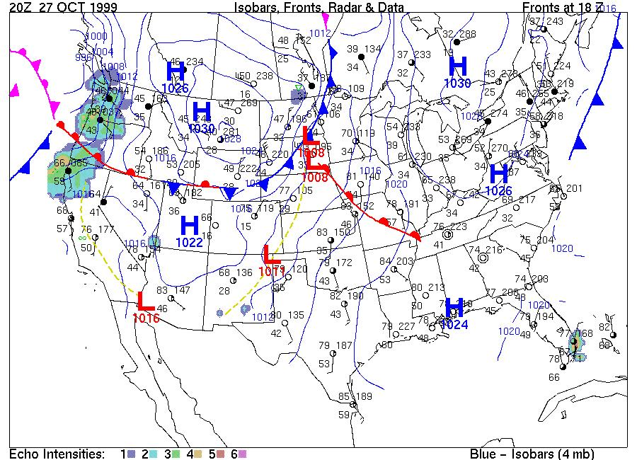 Surface Weather Maps Exercise